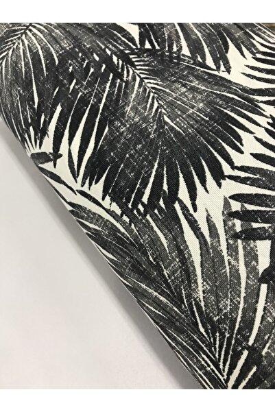 Kumaş Home Bambu Desenli Dertsiz Leke Tutmaz Su Itici Döşemelik Duck Keten Eni 180 Cm Siyah