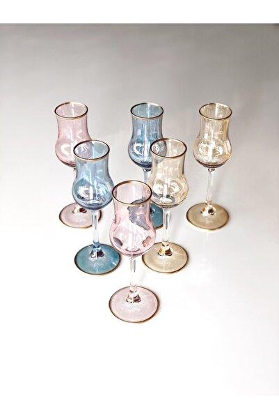 Paşabahçe Grappa Renkli 6´lı Kahve Yanı & Su Bardağı