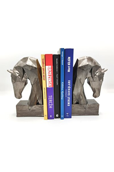 Bun Design Kitap Tutucu At Figürlü Biblo