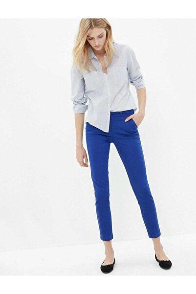 Passage Kadın Saks Mavisi Kumaş Pantolon