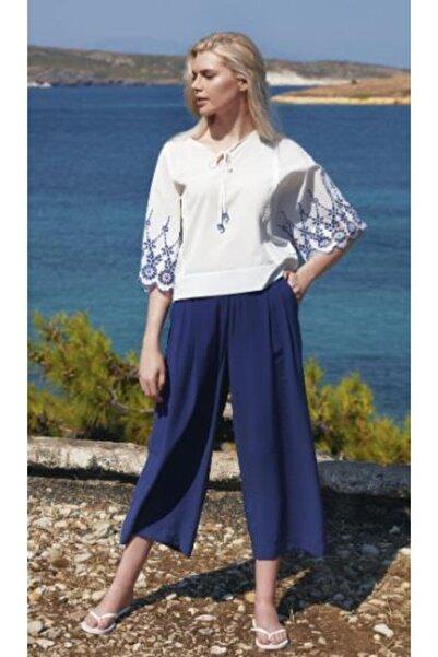 Penyemood Kadın Beyaz Pantalon Takım  8760