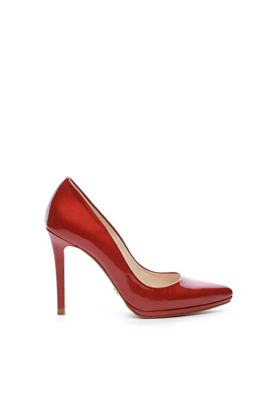 KEMAL TANCA Kadın Kırmızı Deri Abiye Topuklu Ayakkabı 104 26418