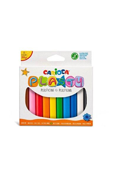 CARIOCA Plasty Kurumayan Oyun Hamuru 200 Gr. 10 Renk Kom1