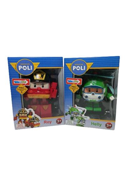 POLI Robocar 2'li Dönüşebilen Roy ve Helly  12 cm