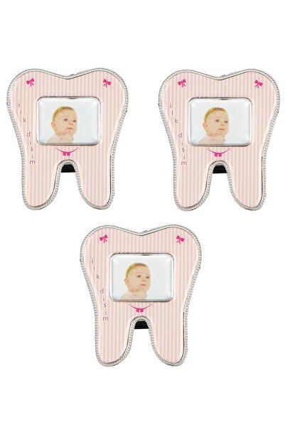 bimbambom Çerçeve Diş Modeli Magnetli 3 Adet Pembe, Diş Buğdayı Hediyelik