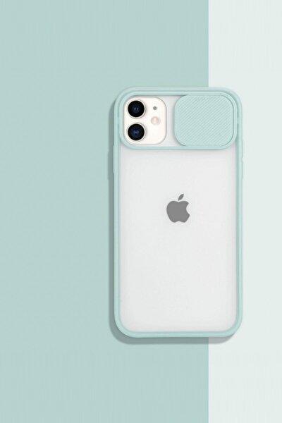 shoptocase Iphone11 Kamera Koruyuculu Su Yeşili Kılıf