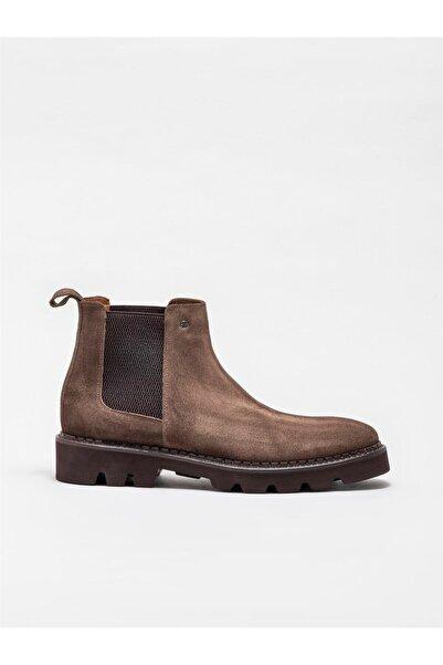 Elle Shoes Erkek Vizon Deri Günlük Düz Bot