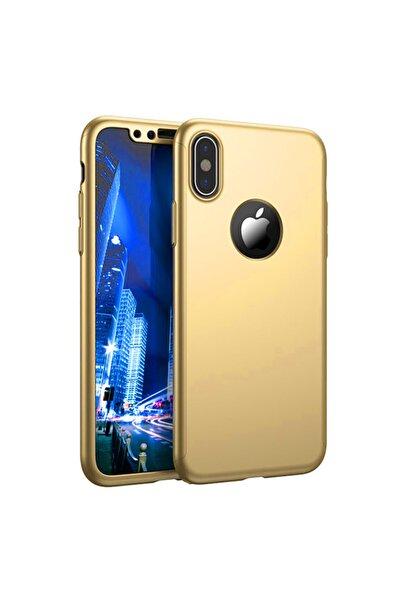Microsonic Microsonic Iphone X Kılıf Komple Full Gövde Koruma Gold