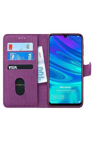 Microsonic Microsonic P Smart 2019 Kılıf Fabric Book Wallet Mor