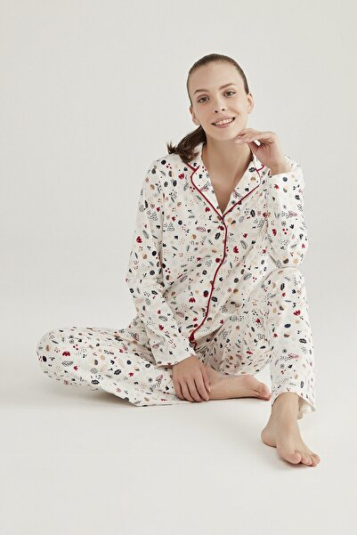 Penti Beyaz Gift Merry Pijama Takımı