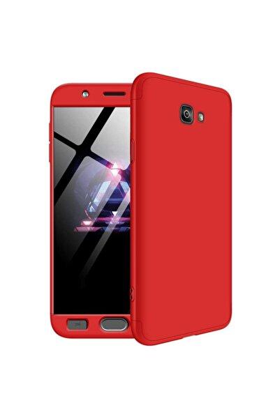 Microsonic Microsonic Galaxy J7 Prime Kılıf Double Dip 360 Protective Kırmızı