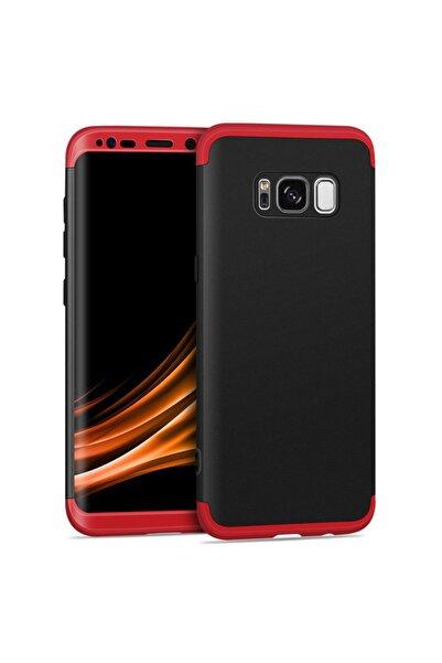 Microsonic Microsonic Galaxy S8 Plus Kılıf Double Dip 360 Protective Siyah Kırmızı
