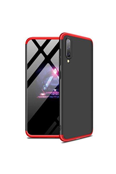 Microsonic Microsonic Galaxy A70 Kılıf Double Dip 360 Protective Siyah Kırmızı