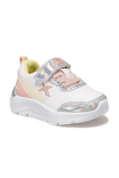 Kinetix Kız Çocuk Beyaz Pembe Gümüş Spor Ayakkabı
