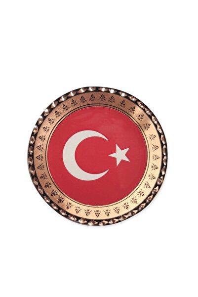 Miray hediyelik Türk Bayrağı Bakır Buzdolabı Magneti