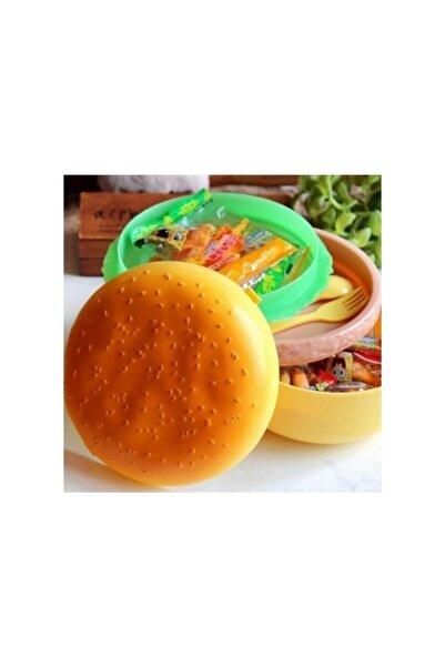Hamarat Unisex Sarı Hamburger Beslenme Kabı