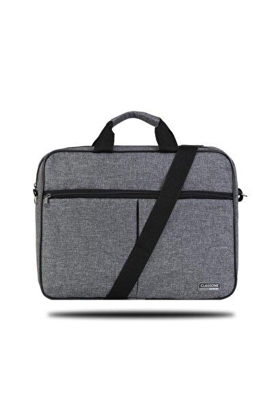 Classone Unisex Gri 15,6 Inç Uyumlu Laptop Notebook El Çantası