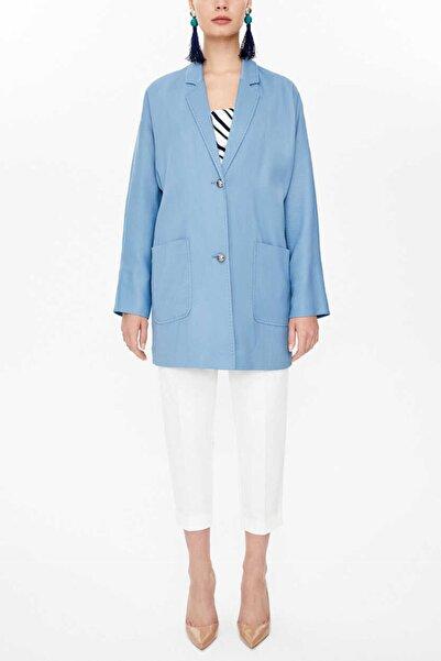 SOCIETA - Düğmeli Ceket 61130 Mavi