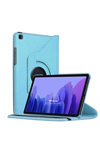 Microsonic Galaxy Tab A7 T500 Kılıf 360 Rotating Deri Mavi