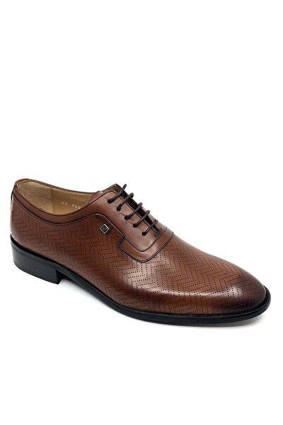 Fosco Erkek Taba Bağcıklı   Deri  Klasik Ayakkabı 9596 875