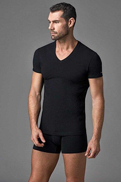 Dagi Erkek Siyah V Yaka T- Shirt E011000370