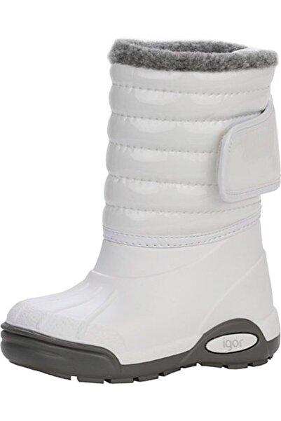 IGOR Kız Çocuk Topo Ski Charol Beyaz Yağmur Çizmesi