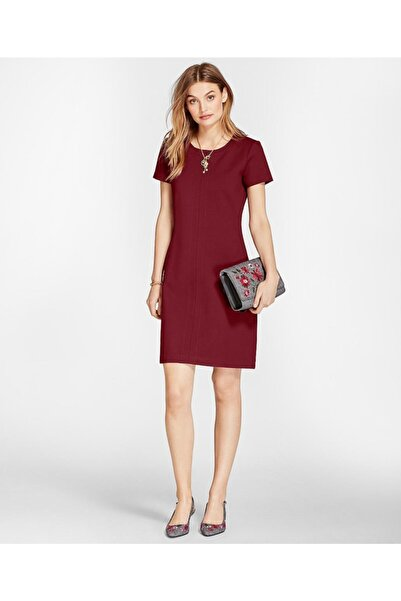 BROOKS BROTHERS Kadın Bordo Red Fleece Elbise -