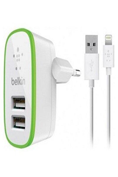 Belkin Lighting Şarj Cihazı Çift Usb Girişli Iphone Ve Ipad Için B01