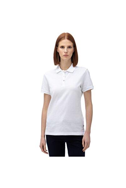 Nautica Kadın Beyaz Kısa Kollu Polo Yaka T-shirt 91K002T