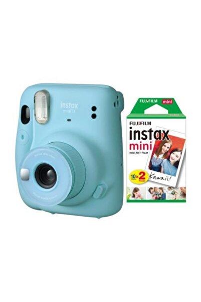 Fujifilm Instax Mini 11 Mavi Fotoğraf Makinesi 20li Film