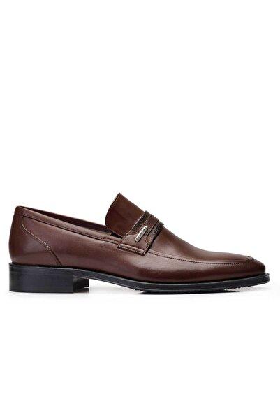 Nevzat Onay Hakiki Deri Kahverengi Klasik Loafer Erkek Ayakkabı -10452-