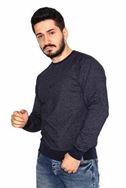 Lacivert Sweatshirt 2 Iplik Molino Kumaş Reglan Kol
