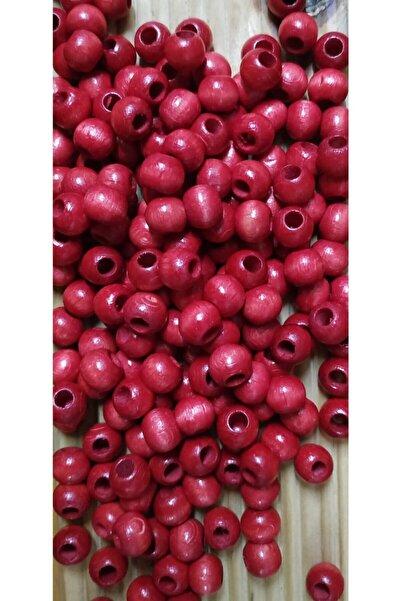 Selin Ahşap Boncuk 10 Mm 100 Gr (300 Adet) Kırmızı