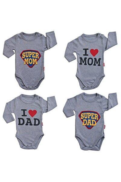 Lullaby Kız Ve Erkek Bebek Uzun Kollu Çıtçıtlı Badi Süper Anne Baba Body