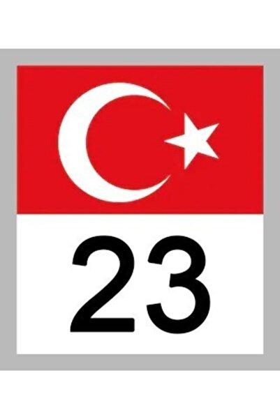 Apex 23 Elazığ Türk Bayrağı Ve Plaka Kodu Ön Cam Sticker Yapıştırma