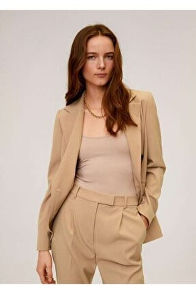Kadın Orta Kahverengi Pilili Kısa Paçalı Pantolon 67054404