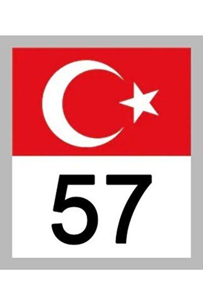 Apex 57 Sinop Türk Bayrağı Ve Plaka Kodu Ön Cam Sticker Yapıştırma