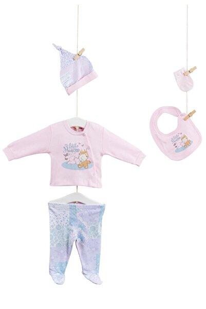 Aziz Bebe Kız Bebek Pembe Hastane Çıkış 5li Takım AZZ005244