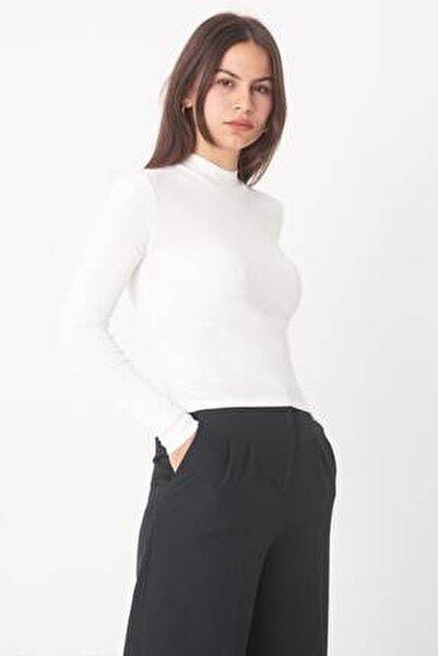 Kadın Ekru Uzun Kollu Bluz B1070 - U8 ADX-0000023027