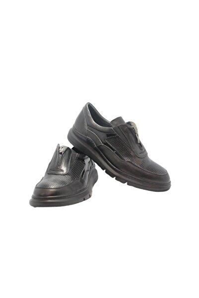 Elite Erkek Siyah Fermuarlı Ayakkabı