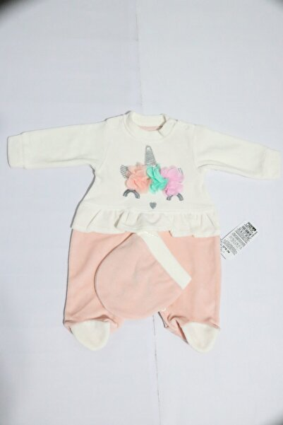 Gringo Kız Bebek Pembe Unicorn Kadife Renkli Tulum