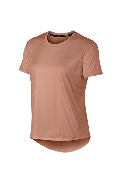 Nike Kadın Turuncu W Mıler Top Ss Tişört AJ8121-539