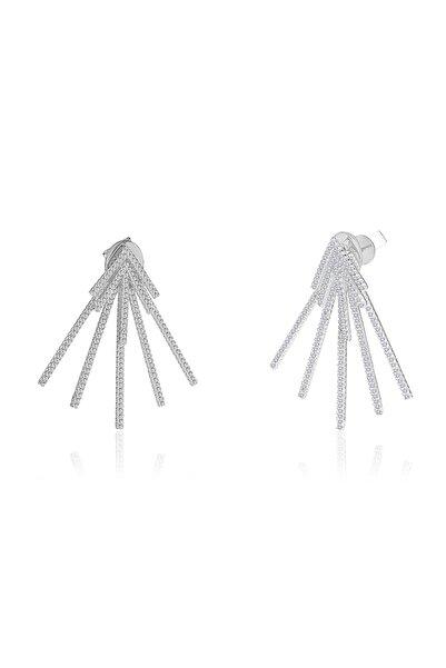 Khailo Silver Kadın 925 Ayar Gümüş Beş Ok Küpe E1217WW