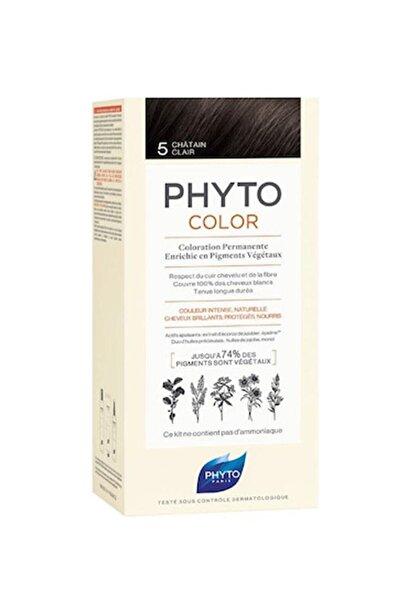 Phyto Color 5 Açık Kestane Bitkisel Saç Boyası (Yeni Ambalaj)