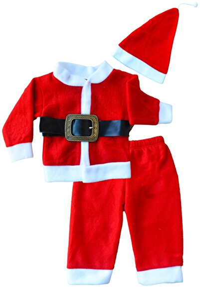 Cem Bebek Ve Çocuk Yeni Yıl Noelbaba Kostüm Kırmızı