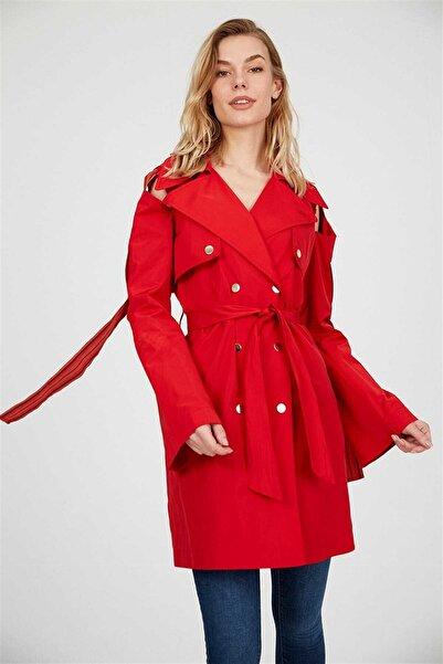 Setre Kadın Kırmızı Trençkot