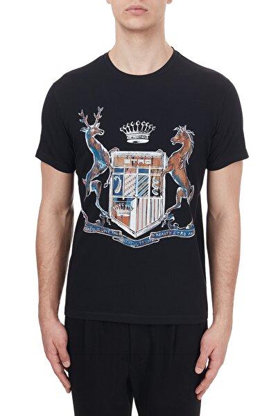 ETRO Pamuklu Bisiklet Yaka T Shirt Erkek T Shirt 1y020 97590 001