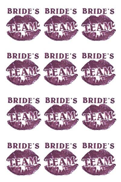 Kullan At Market Bride S Team Dudaklı Dövme Rose Gold 12'li