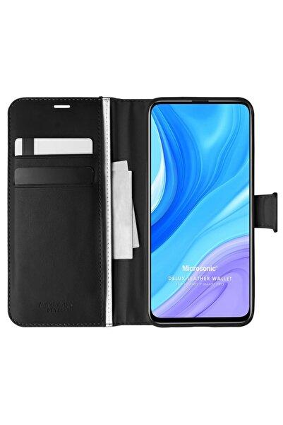 Microsonic Microsonic P Smart Pro Kılıf Delux Leather Wallet Siyah