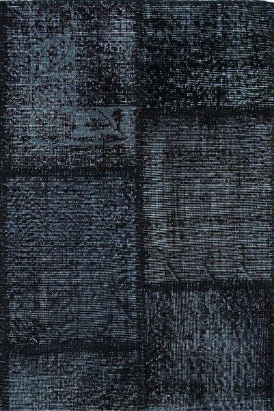 Apex Siyah Patchwork Halı 160x 230 cm